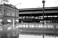 Flooding at the Richmond Train Station