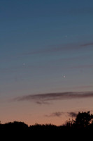 Jupiter, Mercury & Venus in conjunction, Dighton, MA  Copyright ronaldzinconephotography