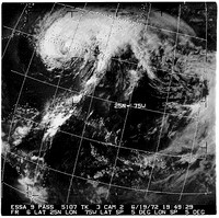 Satellite image of Hurricane Agnes