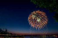 Independence Day 2018 over Battleship Cove, Heritage Park, MA  copyright ronaldzinconephotography