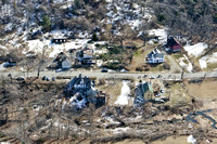 A view of the destruction left after and EF1 tornado ripped through Conway, Massachusetts on Feb. 25, 2017
