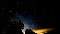 summer Milky Way and Satellite over North Conway, NH copyright ronaldzinconephotography