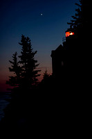 Venus over Bass Harbor Lighthouse Arcadia Maine copyright ronaldzinconephotography