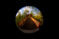 The Bridge, fisheye capture, Roger Williams Park, RI copyright ronaldzinconephotography