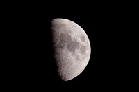 First Quarter moon  copyright ronaldzinconephotography