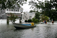 Gregory Blvd in East Norwalk, Conn. is under water after the high tide caused by Hurricane Irene