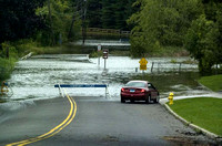 Kenosia Avenue in Danbury was closed due to the swellilng of Lake Kenosia