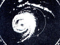 Old radar image of Donna