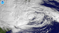 Sandy approaching New Jersey