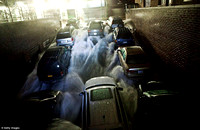 A below-ground carpark in the Financial District of New York floods as waters rushes into the garageRead more: http://www.dailymail.co.uk/news/article-2224655/Superstorm-Sandy-finally-makes-landfall-d