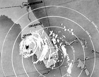 Photo of radar tracking of Donna on 9/10/60