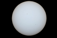 Mercury transits the Sun with sunspot 2542 on 5/9/16
