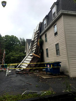 Upton, Massachusetts, where a porch was ripped away from a multi-family home