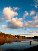 Lonely fisherman, Meadownbrook Pond, Carolina, RI, award-winner copyright ronaldzinconephotography