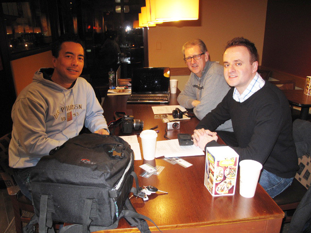 Marc, Larry and Paul for a private session at Panera Bread in Cranston
