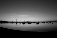Dawn in black and white, Jamestown Harbor