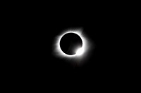 "Total Solar Eclipse with ""diamond ring"" 8/21/17   Copyright Joanna Moller"